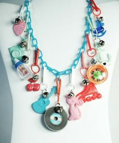 80s plastic charm necklace