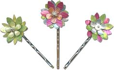 Can Can Flowers Bobby Pins