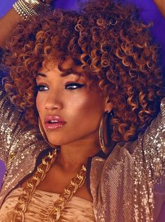 Love the color!! She is Rocking Those Curls, Beautiful!