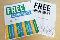 National Compliment Day is fast approaching (celebrated every year on January 24th). januari 24th, free compliment, random acts