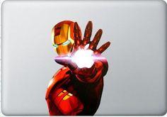 Ironman - Mac Decal Macbook Stickers Macbook Decals Apple Decal for Macbook Pro / Macbook Air / iPad /  iPad2 / iPad3 / iPhone. $8.50, via Etsy.
