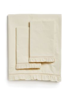 Carly Ruffle Sheet Set by Stitch & Loop at Gilt