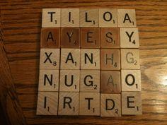 Scrabble Tile Coaster Tutorial