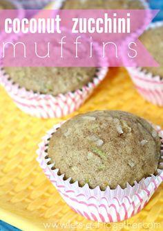 Coconut Zucchini Muffins | Let's Get Together  -- the perfect recipe to spice up all of that garden zucchini! #summerfood #recipe #coconut