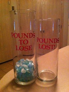 Weightloss motivator! What great idea I'm soooo doing this! I just saw this on Extreme Weightloss too and thought it was a great idea!