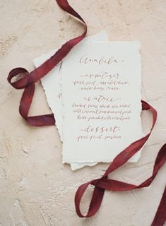 Elegant Garnet Wedding Ideas