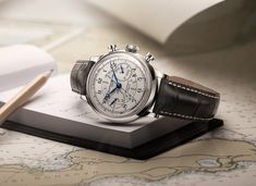 The Capeland 10006 is an adventurer's watch with off-white face, blued steel detailing, tachymeter and telemeter.