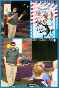 Seuss Carnival Juggler Trick-a-ma-stick