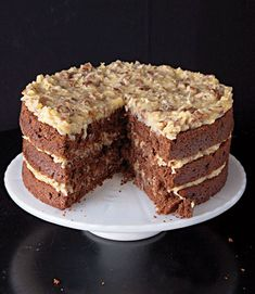 German Chocolate Cake  My daughter's favorite. I'm going to try and make this for her 19th Birthday. Wish me luck.