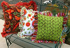 Big Ruffled Pillows With Bow-Tie Backs