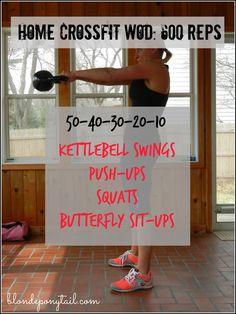 Home CrossFit WOD: 600 Reps - Blonde Ponytail @jsca Ponytail