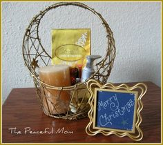 DIY Gift Basket Tutorial - The Peaceful Mom  (How to create a DIY gift basket)