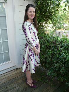 Oscar de la Renta Silk Mikado Dress | Mood Sewing Network. #moodfabrics.