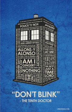 Dr. Who Quote Poster - 11 x 17. $18.00, via Etsy.