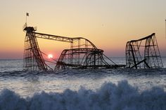 The Jet Star Rollercoaster was left submerged in the Atlantic Ocean after Superstorm Sandy in 2013. It stood rusting for six months, until it was plucked from the sea.