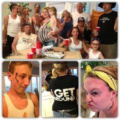Redneck party...temp tear drop tattoos, blacked out teeth, tanks & bandanas theme parties, redneck roundup, redneck theme, red neck, 30 parti, parti idea, rednecks, redneck parti, redneck party