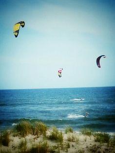 Kite boarders in Hatteras