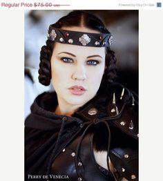cosplay, fantasi, crowns, ladi costum, leather crown