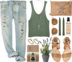Boyfriend jeans outfit! Want!