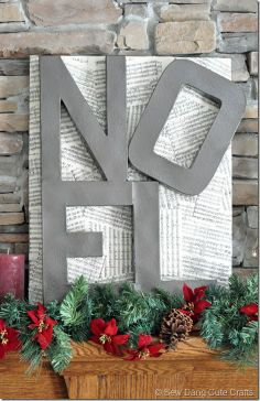Bought the letters today to make this fun Noel sign - a Pottery Barn knock-off at a fraction of the price.