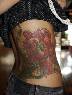 floral tattoo...