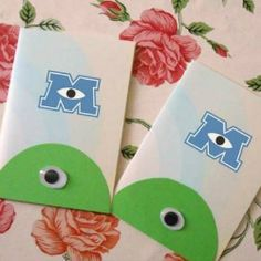 DIY Monsters University Birthday Party Invites