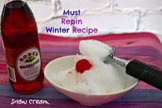 How to Make Snow Cream! #snow #recipes