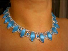Free pattern for necklace Blue Danube