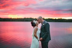 #lake #wedding #sunset #photo #water #bride #groom #couple