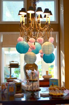 Decor for a #circus themed #baby #shower