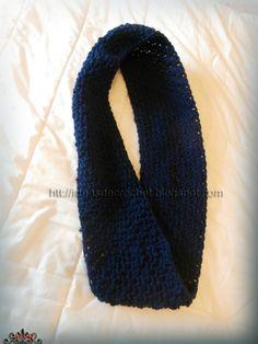 Ideas de Crochet: Cuello azul marino para hombre