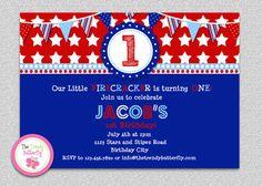 4th of July Firecracker Red White Blue #redwhiteblue #4thofJuly #patriotic #birthday #stars