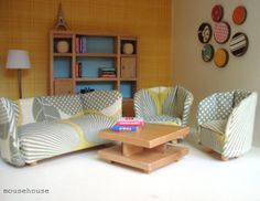 love the sofa and chairs of this dollhouse!