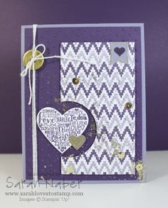 Stampin' Up! Language of Love, Banner Blast, and Eye-Catching Ikat Card