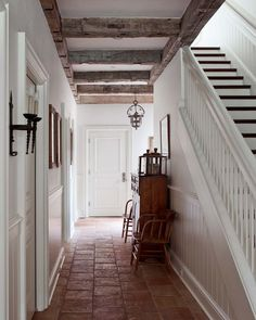 Love the wooden beams and the floor