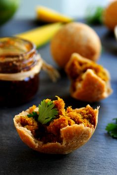 Daal Kachori~ Spiced Daal & Green Mango In Flaky Pastry