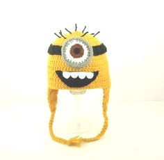 crochet minion hat!!!!Despicable me!
