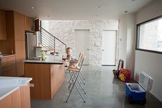polished concrete floors!