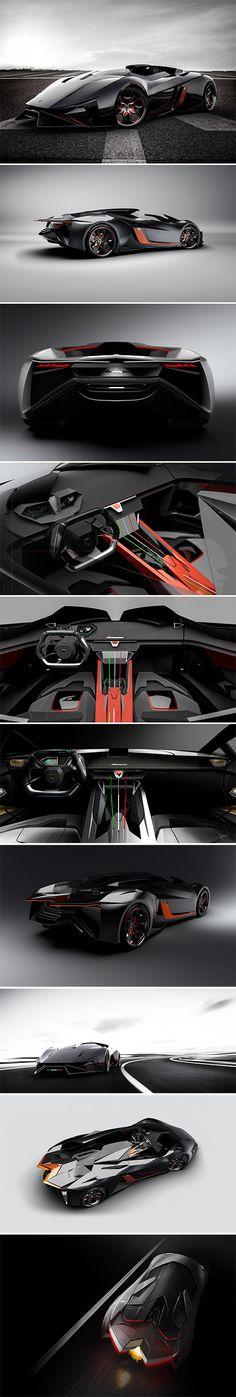 Stealth Fighter-Inspired Lamborghini Diamante Concept for 2023.