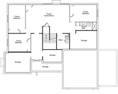 ivory homes floor plans on pinterest 162 pins multi level basement home Basement Level B