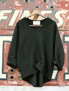 Hackwith Design House.  A Well Traveled Woman. Knit Sweater