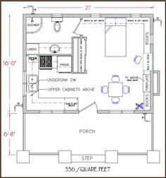 Simple Life Bungalow floor plan 336 sq. ft.
