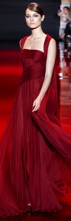 Lady in RED...Elie Saab Fall Couture 2013