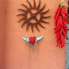 Taos, #taos, #folkart #newmexico #chili #red