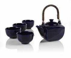 Indigo Teapot Set--TEAVANA blue 59.00