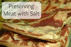 All about preserving meats with salt.