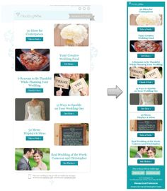 Responsive Email Design from WeddingWire