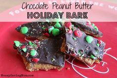 Chocolate Peanut Butter Holiday Bark
