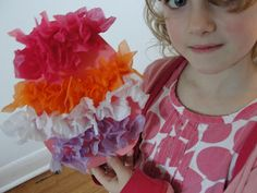 Simple tissue paper Easter egg craft for kids.