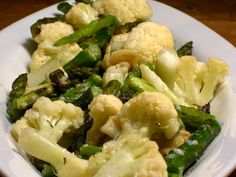 Roasted asparagus and cauliflower. Pretty good! Will make again.